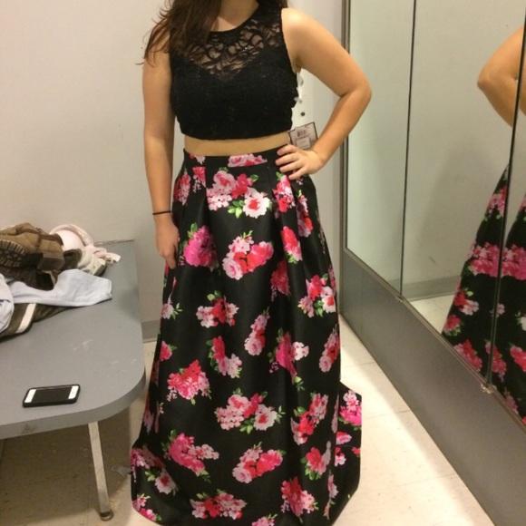 bbd16c4f050 B Darlin Dresses   Skirts - Two piece floral prom dress